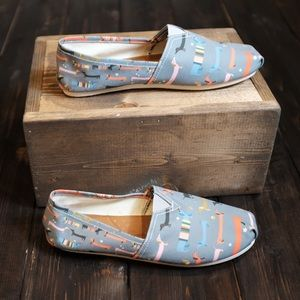 Shoes - New Dachshund Print Toms Style Slip On Shoes
